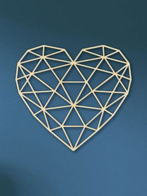 Geometrische hart hout muur