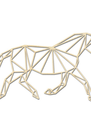 Geometrische paarden draf dressuur
