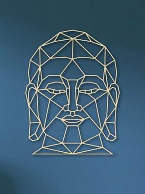 Geometrisch boeddha hout