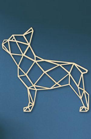 Franse bulldog staand hout
