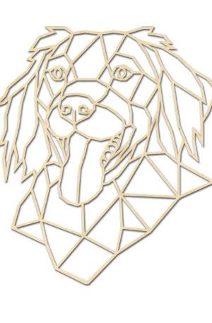 Geometrisch hond stabij hout