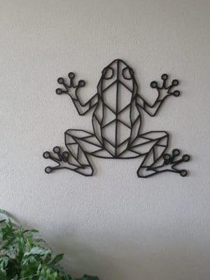 Geometrische houten kikker