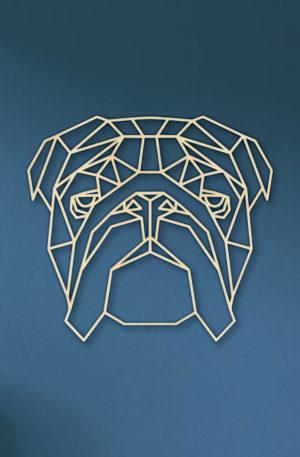 Geometrische Engelse Bulldog
