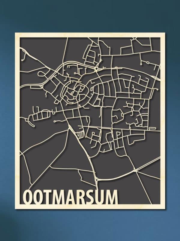Houten stadskaart van Ootmarsum