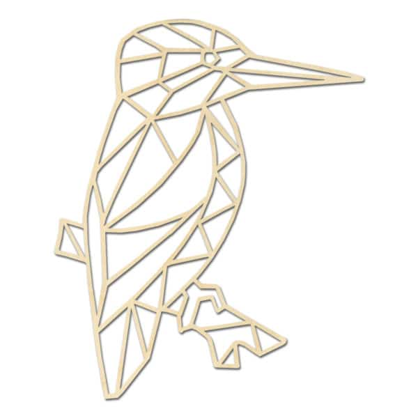 Geometrische houten ijsvogel