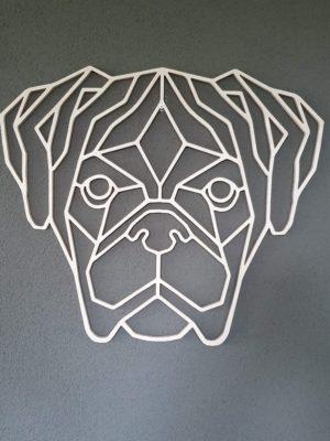 Geometrische houten Boxer