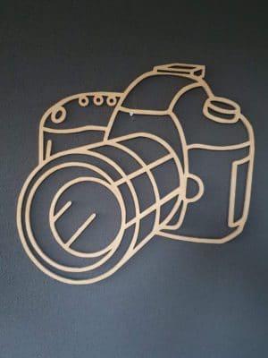 Geometrische camera hout