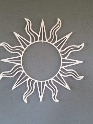 Houten zon