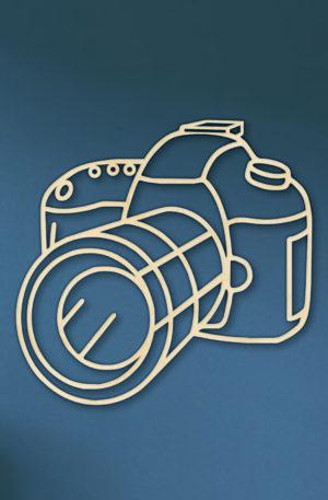 geometrische houten camera
