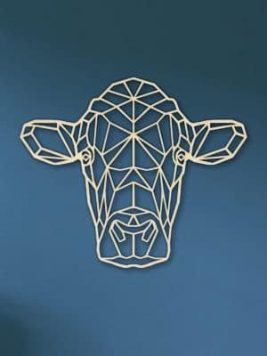 Geometerische houten koe