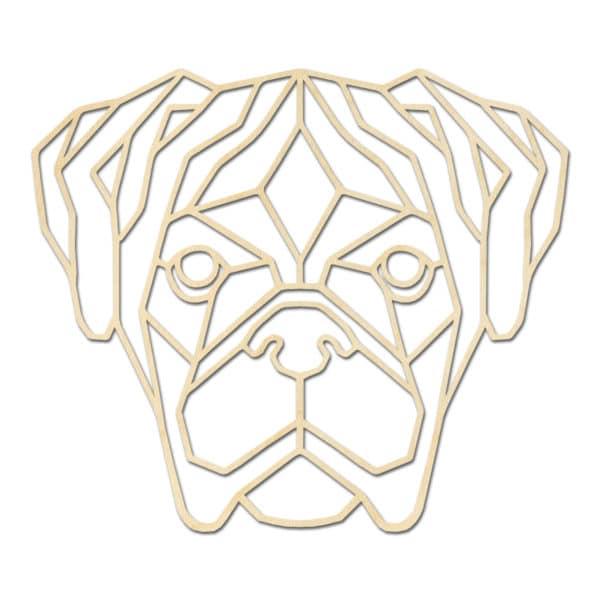 Geometrische Boxer hond
