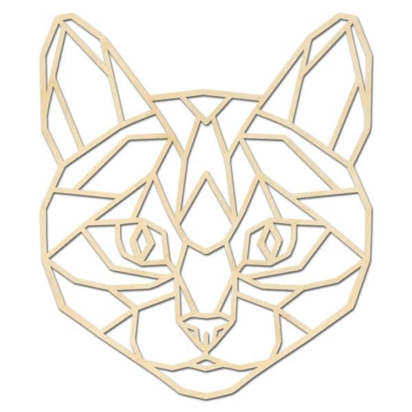 Geometrische kat kop