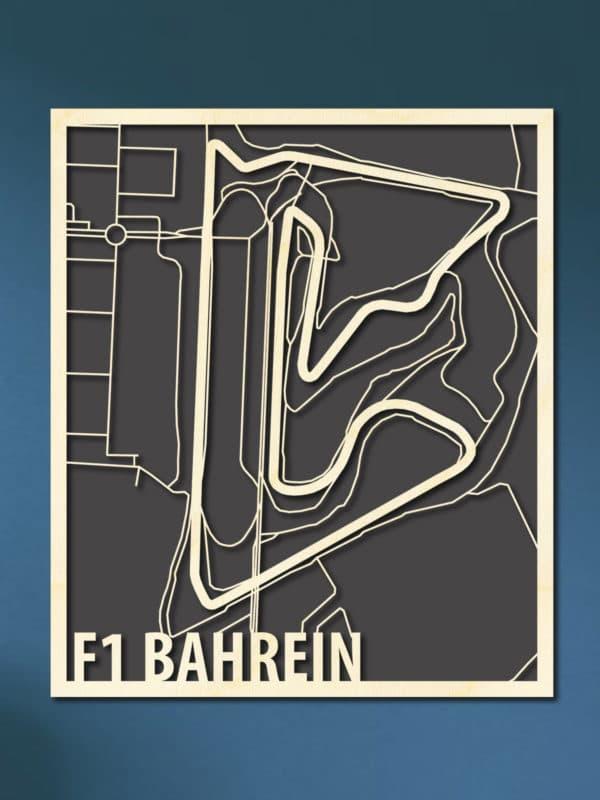 F1 Bahrein Circuit Citymap van hout