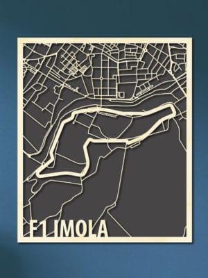 F1 Imola Italie Circuit Citymap van hout