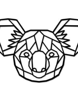 Geometrische houten koala