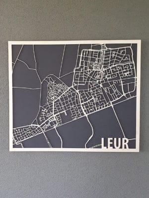 Houten Citymap Leur