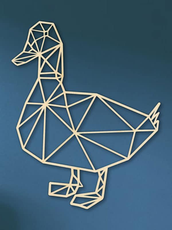 Geometrische houten eend