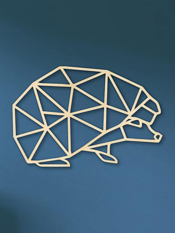Geometrische Houten Egel