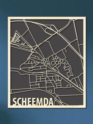 Houten Citymap Scheemda