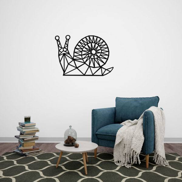 Geometrische houten slak