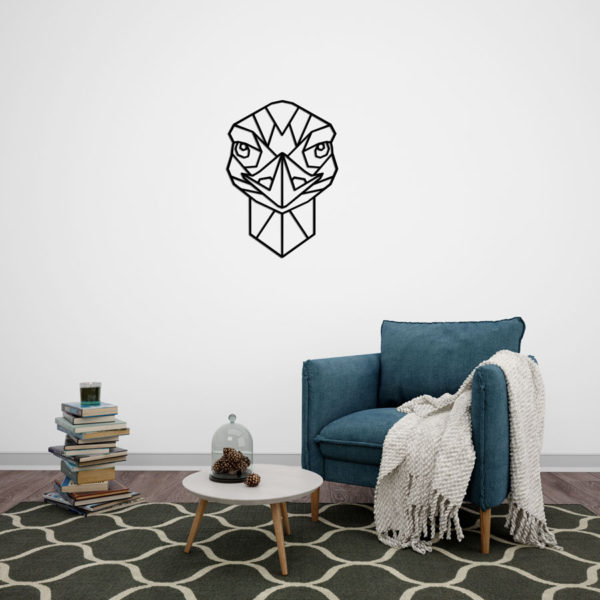 Geometrische Struisvogel van hout