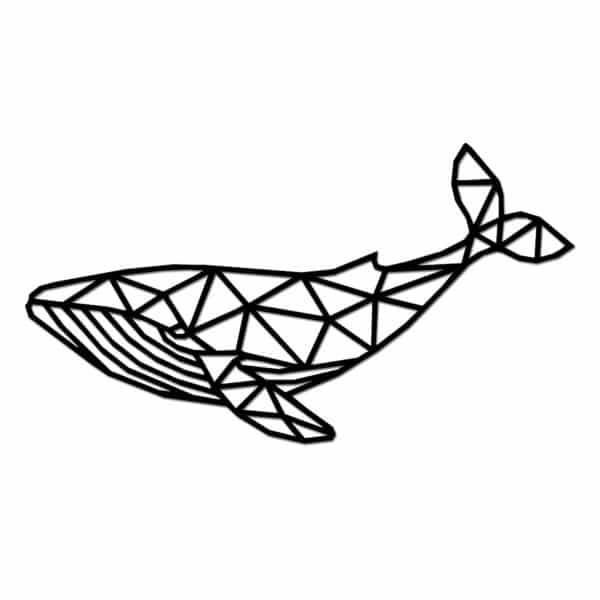 Geometrische houten walvis