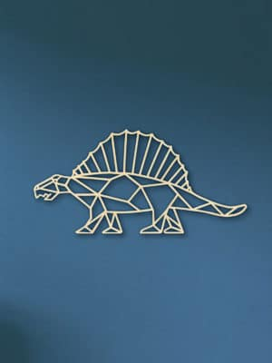 Geometrische Dino Hout Muur Dimetron