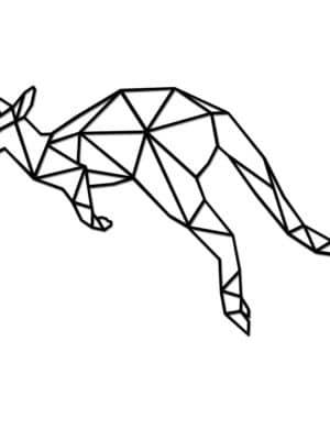 Geometrische Houten Kangoeroe