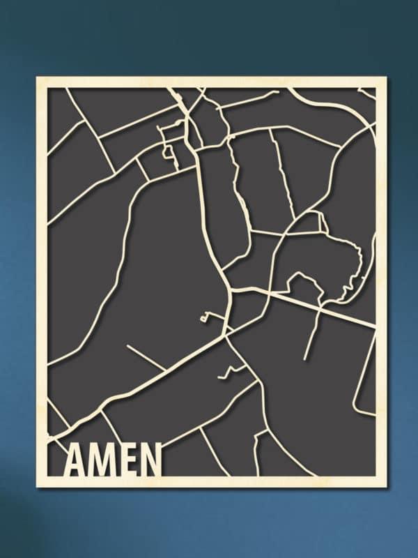 Houten Citymap Amen