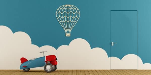 Geometrishce houten luchtballon