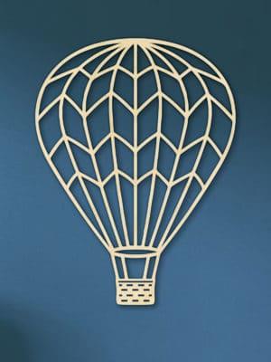 Geometrische houten luchtballon