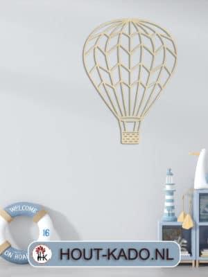 Houten luchtballon kinderkamer