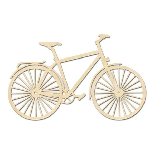 Geometrische fiets hout muur