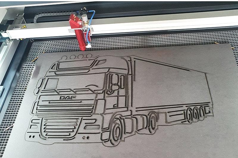 Vrachtwagen laseren
