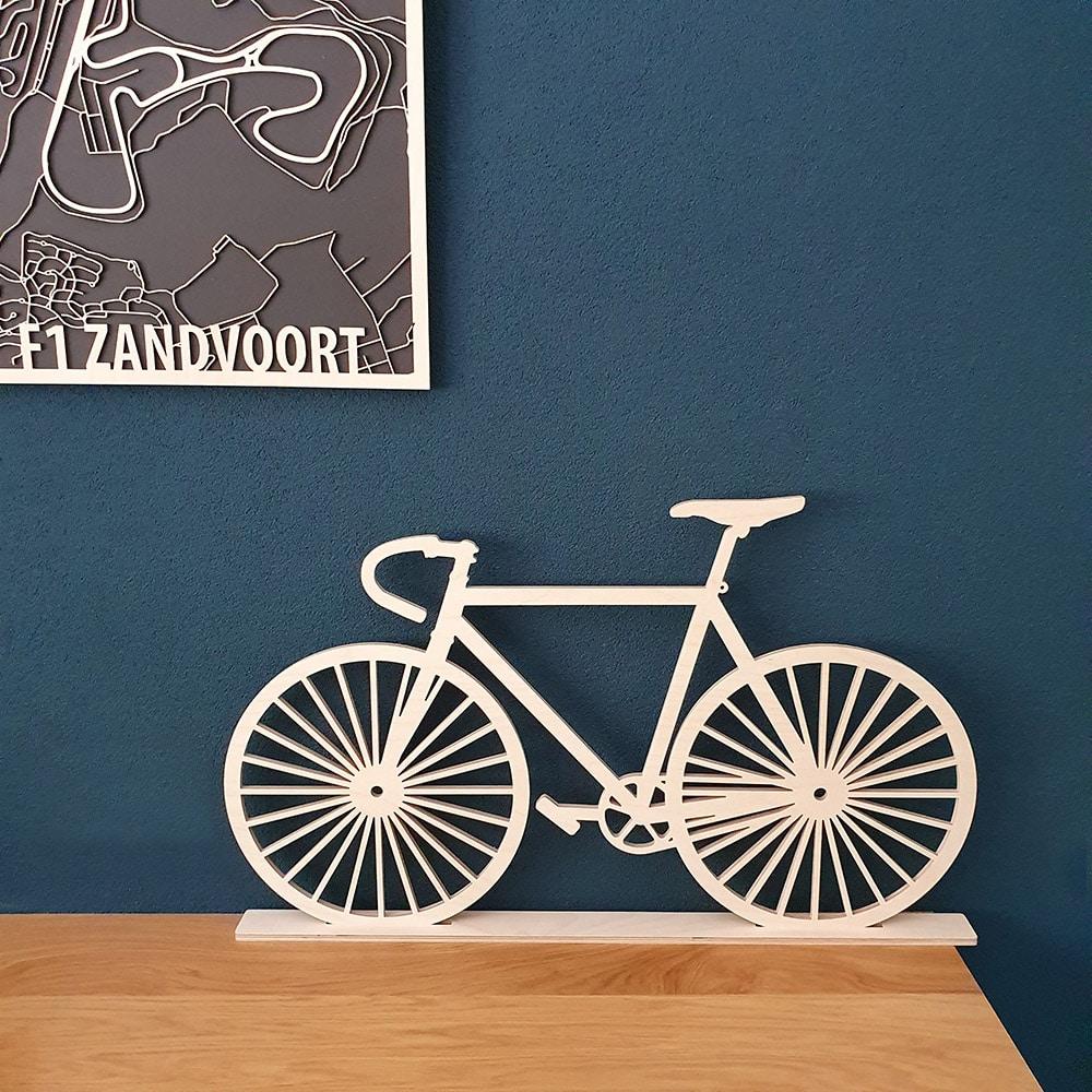 Geometrische houten fiets