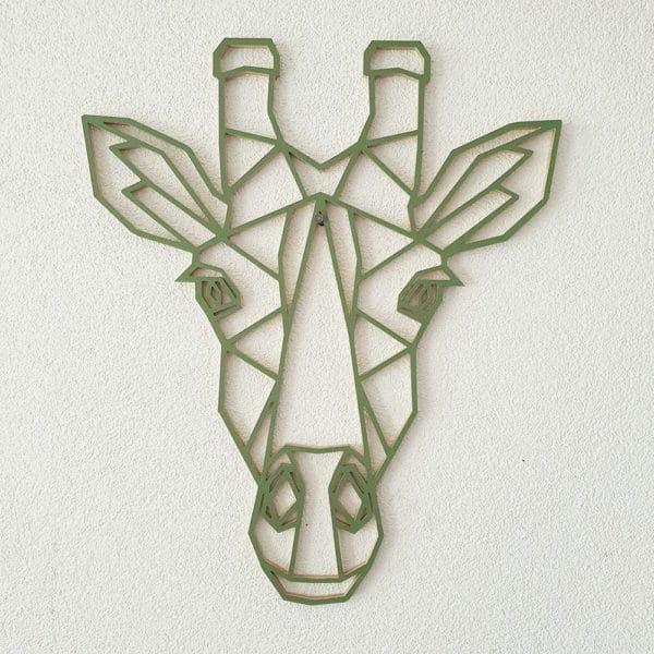 Geometrische Giraf Groen