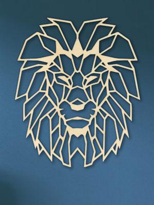 Geometrische houten Leeuw nr2