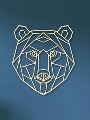 Geometrische houten beer
