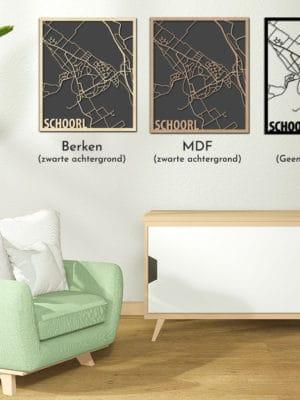 Citymap Schoorl vergelijk