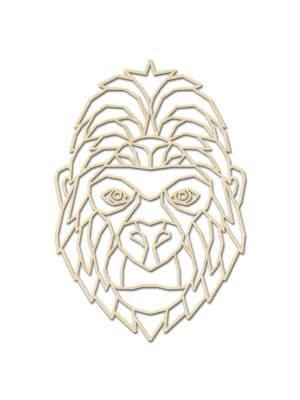 Geometrische Gorilla van hout