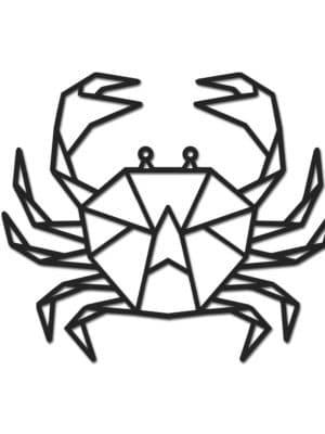 Geometrische houten krab