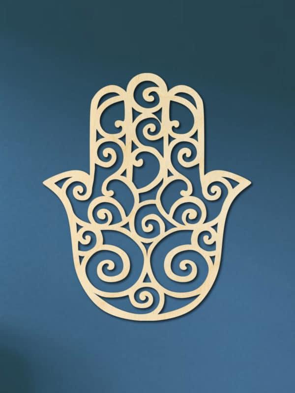 Hand van Fatima van hout