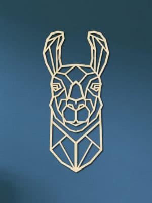 Geometrische houten lama