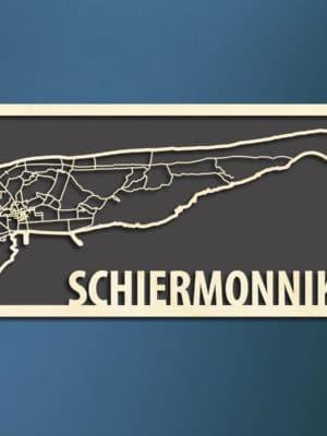 Citymap Waddeneiland Schiermonnikoog