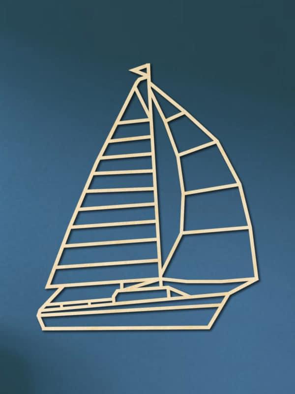 Geometrische Zeilboot