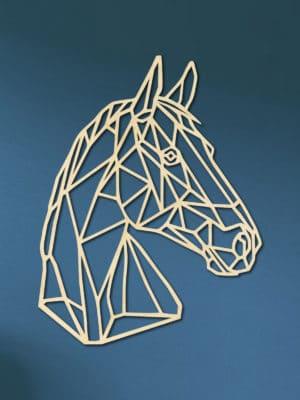 Geometrisch paard zijkant